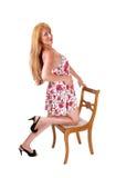 Frau im Sommer-Kleid Stockfoto
