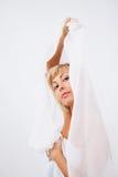 Frau im Weiß Lizenzfreies Stockbild