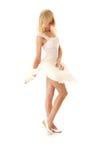 Frau im weißen Rock Stockfoto