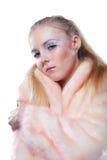 Frau im Wintermantel lizenzfreies stockbild