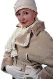 Frau im Winterpelz Lizenzfreies Stockbild