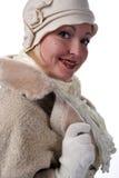 Frau im Winterpelz Stockbild