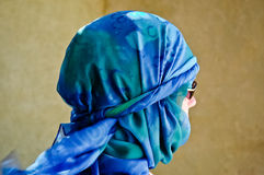 Frau im yashmak Stockfoto