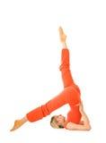 Frau im Yoga stockbilder