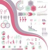 Frau infographics Lizenzfreies Stockbild