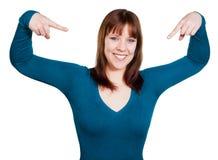 Frau ist überzeugt lizenzfreie stockfotos