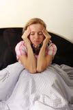 Frau ist krank Stockbilder