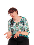 Frau ist sehr enttäuscht lizenzfreies stockfoto