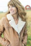 Frau 60 Jahre alte Weizenfreiheits-Weizen Stockfotos