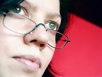 Frau konzentriert Stockbild