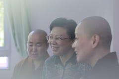 Frau leichunmei Besuch zizhulin Nonnenkloster in der amoy Stadt, Porzellan Stockfotos