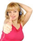 Frau mögen eine Musik Lizenzfreie Stockbilder