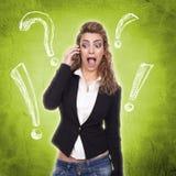 Frau mit aktiven Ausdrücken stockbilder