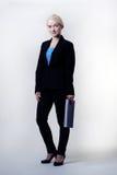 Frau mit Anmerkungsbuch Lizenzfreies Stockfoto