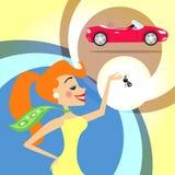 Frau mit Autoschlüsseln Lizenzfreie Stockbilder