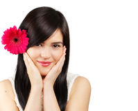 Frau mit Blume Stockfotografie