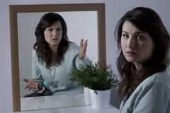 Frau mit Borderline-Persönlichkeitsstörung Lizenzfreie Stockfotos