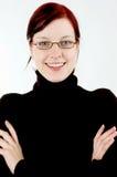 Frau mit Brillen Lizenzfreie Stockfotos