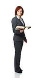 Frau mit Buch Lizenzfreies Stockfoto