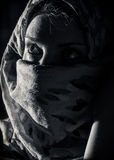 Frau mit burka Stockfoto