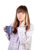 Frau mit Cup Lizenzfreie Stockfotografie