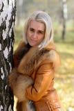 Frau mit dem blonden Haar Stockfotografie