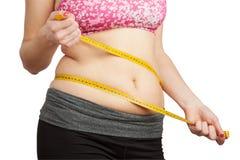 Frau mit dem fetten Bauch Lizenzfreies Stockbild