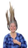 Frau mit dem Haar oben Lizenzfreie Stockfotos