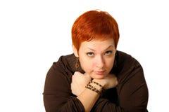 Frau mit dem roten Haar Lizenzfreie Stockfotos