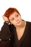 Frau mit dem roten Haar Stockfotografie