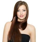 Frau mit dem schönen Haar Stockfotografie