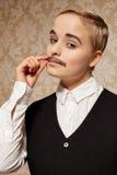 Frau mit dem Schnurrbart lizenzfreies stockbild