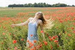 Frau mit den Fliegenhaaren Lizenzfreies Stockfoto
