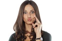 Frau mit den geschürzten Lippen Lizenzfreie Stockbilder
