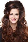 Frau mit den langen braunen Haaren Lizenzfreie Stockbilder