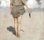 Frau mit einem Bündel Schlüsseln Lizenzfreie Stockfotos
