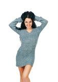 Frau mit einem langen schönen Haar lizenzfreies stockfoto