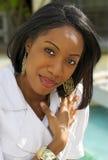 Frau mit einem Lächeln Lizenzfreie Stockbilder