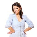 Frau mit einem Schellfisch Lizenzfreie Stockfotografie