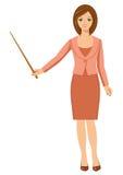 Frau mit einer Nadelanzeige Stockfotos