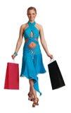 Frau mit Einkaufen-Beuteln Stockbilder