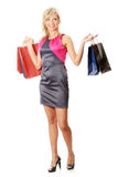 Frau mit Einkaufenbeuteln Lizenzfreie Stockfotografie
