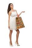 Frau mit Einkaufenbeuteln Lizenzfreies Stockbild