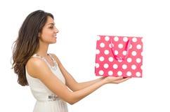 Frau mit Einkaufenbeuteln Lizenzfreie Stockbilder