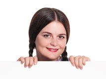 Frau mit freiem Raum Stockbilder