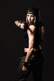 Frau mit Gewehr Lizenzfreies Stockbild