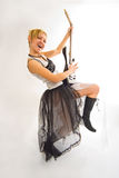 Frau mit Gitarre Stockfotografie