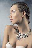 Frau mit glänzendem Make-up Lizenzfreies Stockbild