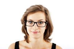 Frau mit Gläsern Stockbild