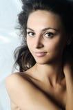 Frau mit grünen Augen Lizenzfreie Stockfotos